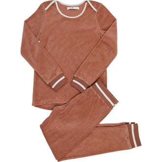 Dusty Sand Velour PJs