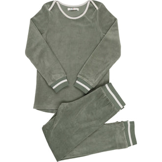 Sage Blue Velour Pjs