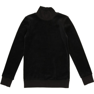 Black Velour Sweatshirt