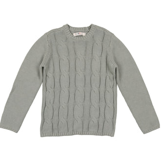 Sage Blue Cabled Sweater