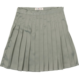 Sage Blue Pleated Skirt