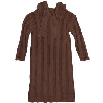 Mocha Heather Ribbed Sweater Dress