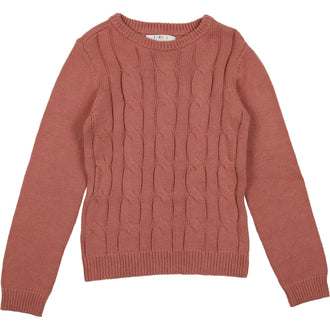 Dusty Sand Cabled Sweater