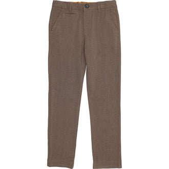 Mocha Heather Wool Pants