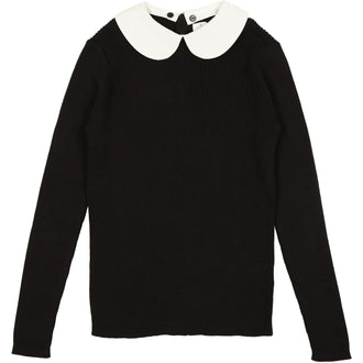 Black Peter Pan Sweater