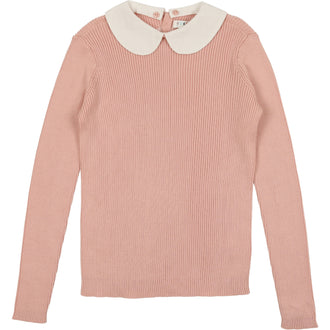 Mauve Peter Pan Sweater