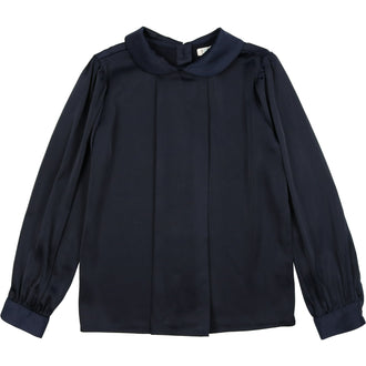 Navy Silky Blouse
