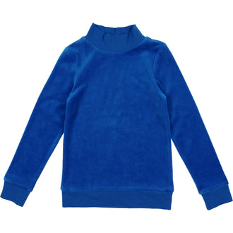 Cobalt Blue Velour Sweatshirt
