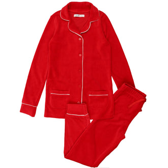 Brick Red Velour Grandpa Pjs