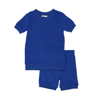 Cobalt Blue Terry Short Pjs