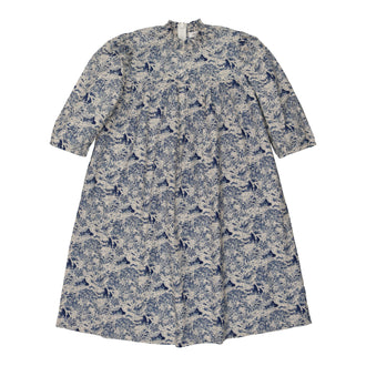 Toile Blue Print Dress