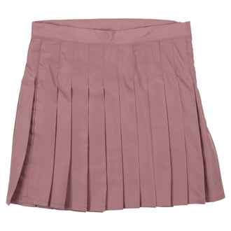 Deep Rose Pleated Skirt