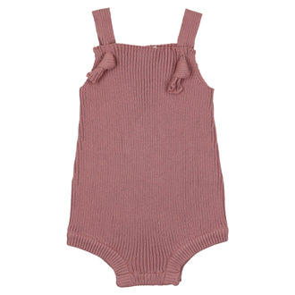 Deep Rose Ribbed Romper