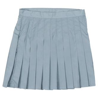 Ice Blue Pleated Skirt