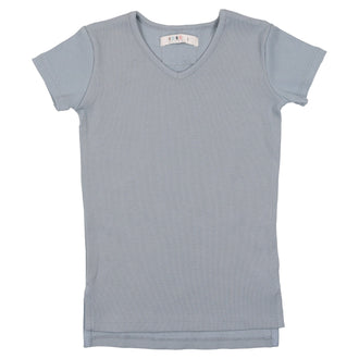 Ice Blue V-neck Tee
