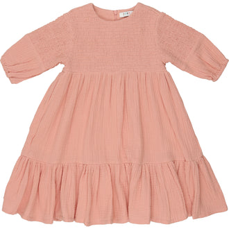 Smoky Rose Smocked Dress