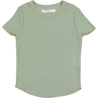 Sage Green Ribbed Tee