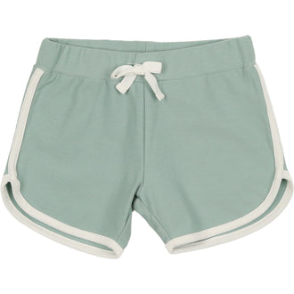 Sage Green Ribbed Biker Shorts