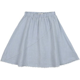 Pale Blue Linen Skirt