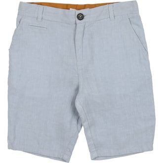 Pale Blue Linen Shorts