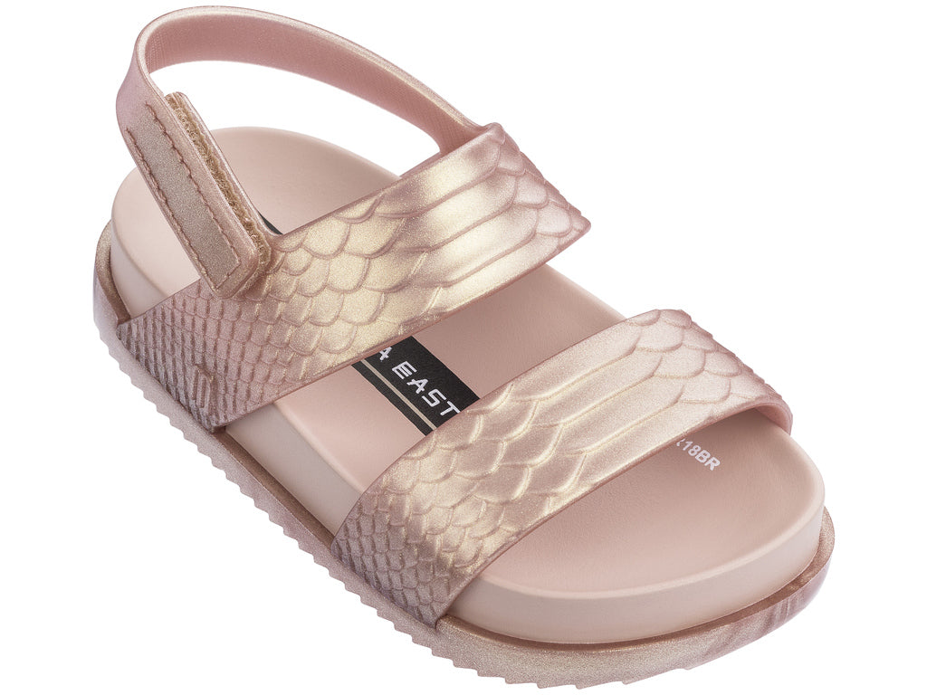 0a45a738c Rose Gold Crocodile Sandals – The Red Balloon