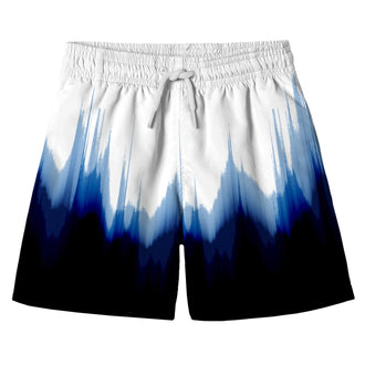 Dipped Blue Swim Shorts