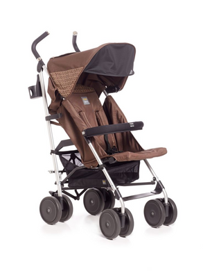 Fendi Brown Logo Baby Stroller