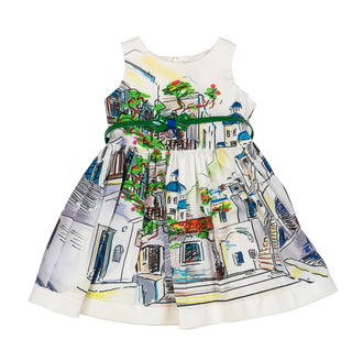 City In Paris Print Dress