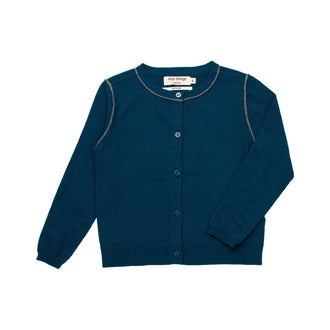 Blue Lurex Rolling Cardigan