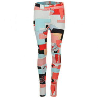 Blue Multi Abstract Print Legging