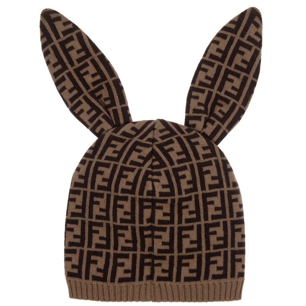fb25e8df36c Brown Fendi Baby Bunny Ear Hat – The Red Balloon