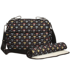 Fendi Navy Bug Print Baby Bag