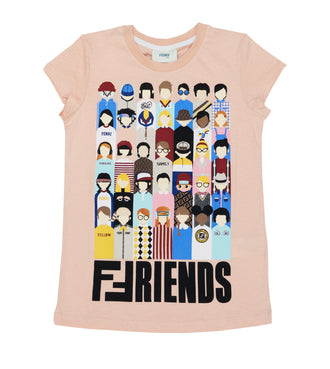 Pink Fendi Friends Graphic Tee