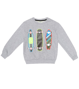 Grey Skate Graphic Sweatshirt