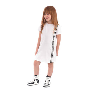 Balmain White Jersey Trim Dress