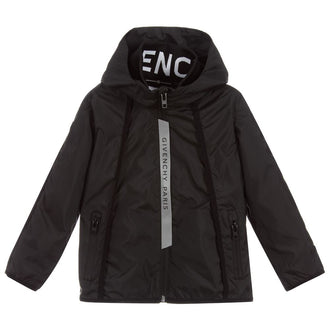 Black Logo Detail Jacket