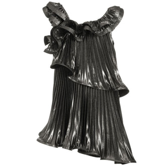 Platinum Logo Ruffle Dress
