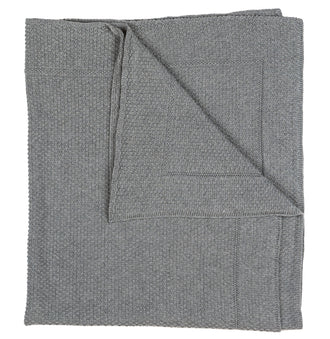 Grey Knit Blanket