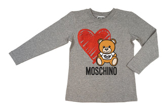 Grey Heart Bear Tee