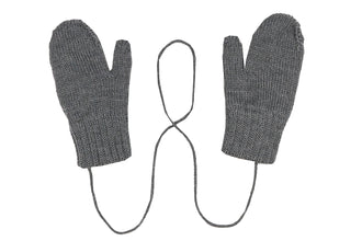 Grey Wool Mittens