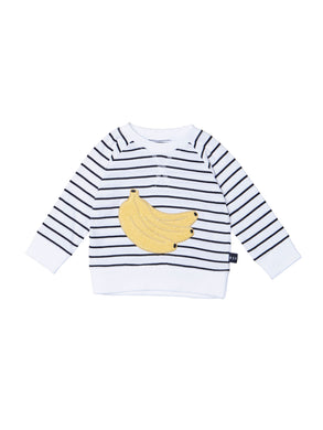 Black/White Banana Stripe Sweatshirt