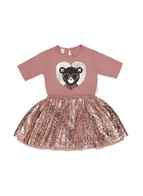 Berry Heart Bear Ballet Dress