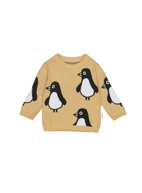 Mustard Penguin Knit Sweater