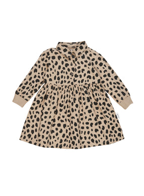 Sand Animal Spot Shirt Dress