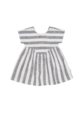 Navy Stripe Yolk Dress