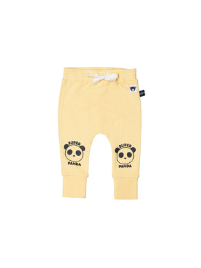 Yellow Super Panda Pants