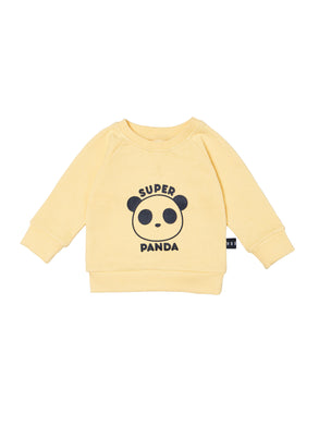 Yellow Super Panda Sweatshirt