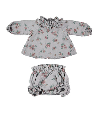 Grey Floral Bloomer Set