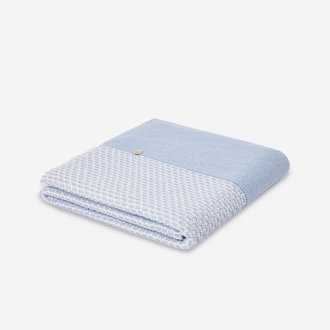 Murmullo Blue Cloud Knit Blanket