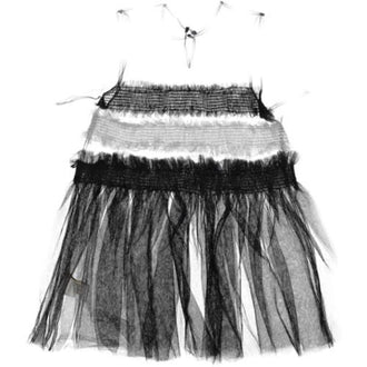 Black Tulle Sheer Dress